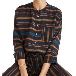 Madewell Clermont Striped Silk Blouse